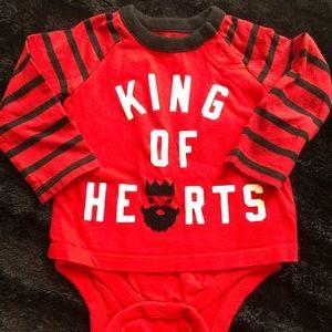King of Hearts baby GAP onesie size 6-12m